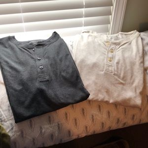 🧔2-NWOT American Eagle Men's Henleys. Size Large